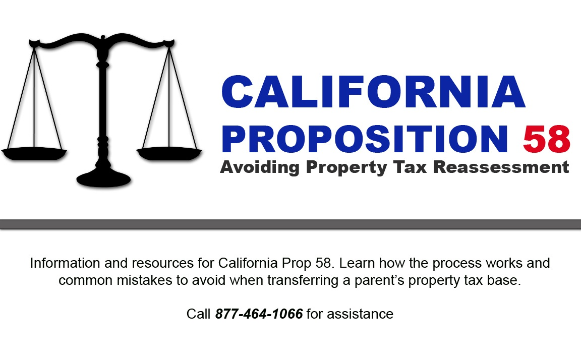 California Proposition 58 Avoiding Property Tax Reassessment