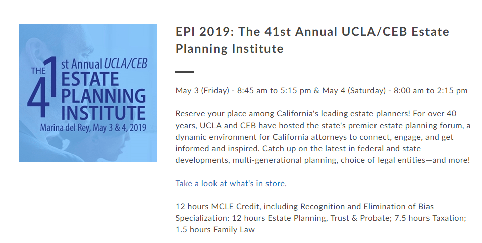 Estate Planning Institute