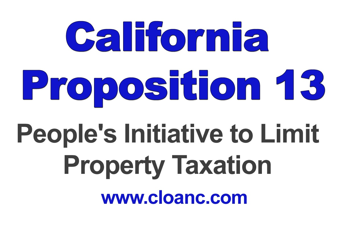 California Proposition 13 Property Tax Information